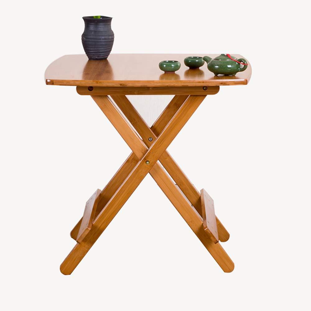 HBWJSH Tavolo Pieghevole per Il Tempo Libero Pieghevole per la casa bambù 60  60  60cm
