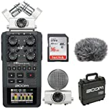 Zoom H6 Portable Recorder Kit with Custom Windbuster + 16GB SDHC Memory Card Ultra + SKB - iSeries Waterproof Case for Zoom H6 Recorder