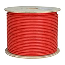 CAT6A 10G, STP, 23AWG, Solid Bare Copper, CMR, 1000ft, Red, Bulk Ethernet Cable