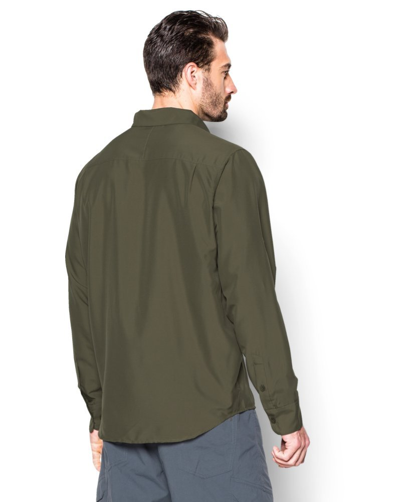 Mens Marine OD Green XL Under Armour Chesapeake 2 LS Shirt