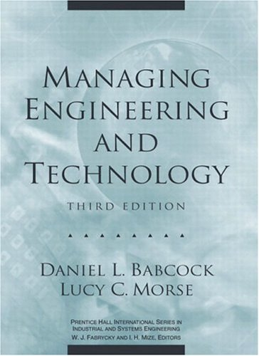 Managing Engineering and Technology (3rd Edition)