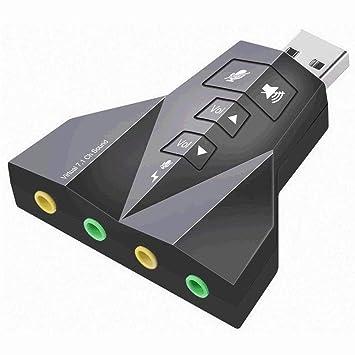 MXXTL Tarjeta Sonido USB, Tarjeta Sonido Externa USB ...