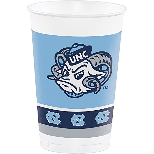 8-Count NCAA 20 oz. Premium Plastic Cups, North Carolina Tar Heels