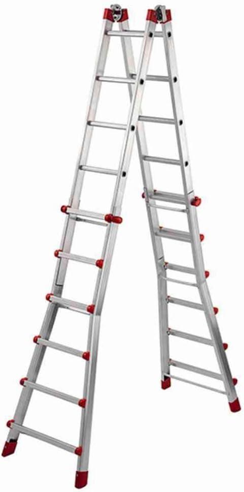De aluminio multifunción de escalera telescópica 670 4 x 6 peldaños: Amazon.es: Jardín