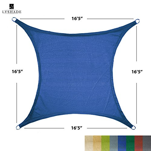 LyShade 12' x 12' Square Sun Shade Sail Canopy (Blue) - UV Block for Patio and Outdoor by LyShade