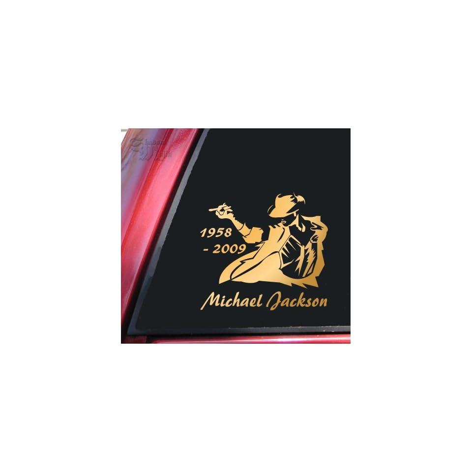 Michael Jackson 1958   2009 Vinyl Decal Sticker   Mirror Gold