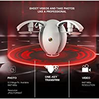 VESNIBA 2.4GHZ 4CH 6-Axis Gyro RC Quadcopter K130 ALPHA Folding Transformable Egg Drone RTF With 0.3 Real Time Camera