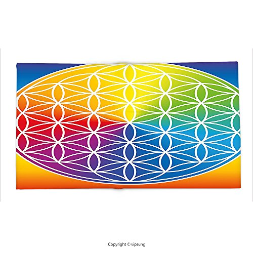 Custom printed Throw Blanket with Hippie Abstract Peace Flower Child Youth Radiant Rainbow Toned Spiritual Lifestyle Design Multicolor Super soft and Cozy Fleece Blanket