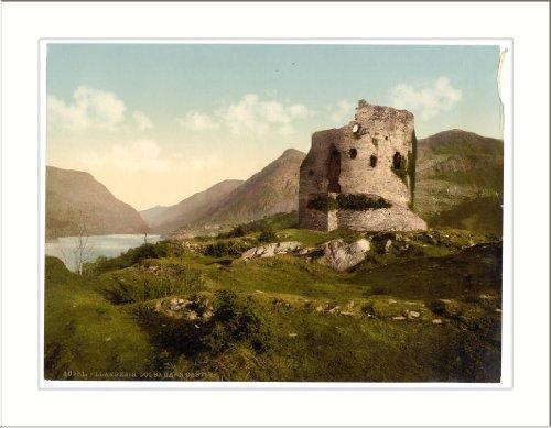 Dolbadarn Castle Llanberis Wales, c. 1890s, (L) Library Image Dolbadarn Castle