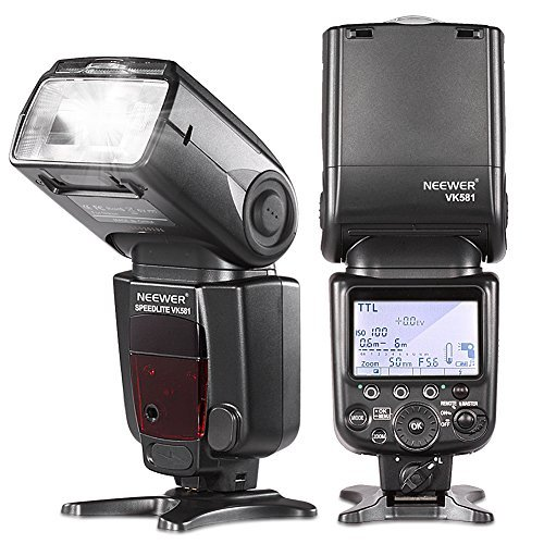 Neewer VK581 i-TTL Master Slave Speedlite Flashlight High-Speed Sync for Nikon D7100 D7000 D5200 D5100 D5000 D3000 D3100 D300 D300S D700 D600 D90 D80 D70 D70S D60 D50 and all Other Nikon Models