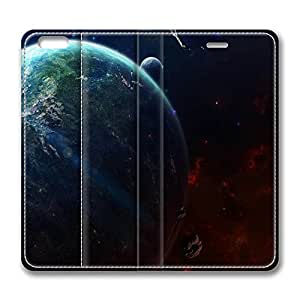iPhone 6 Plus Case, Fashion Protective PU Leather Flip Case [Stand Feature] Cover Lighted Planet for New Apple iPhone 6(5.5 inch) Plus