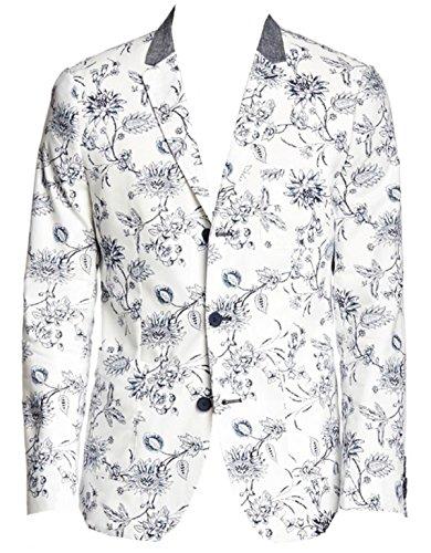 Howe Men's Floral Cotton Three Button Riptide Blazer, Navy, (Howe Mens Blazer)