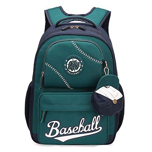 MATMO American Baseball Caps School Bags Children Student Backpack Olive Green