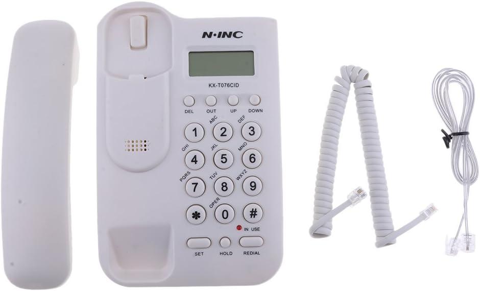 P Prettyia Teléfono Fijo Montaje En La Pared De La Oficina Hotel Montado En La Pared Kx-t076cid: Amazon.es: Electrónica