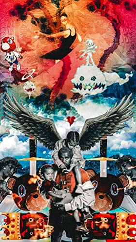 World Amazing Poster Kanye west Kids See Ghosts Kid cudi 2018 12 x 18 Inch Poster Rolled from World Amazing Poster