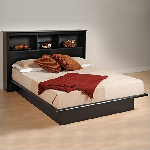 Prepac Black Sonoma Double/Full Bookcase Platform Bed (Contemporary Bed Sonoma)