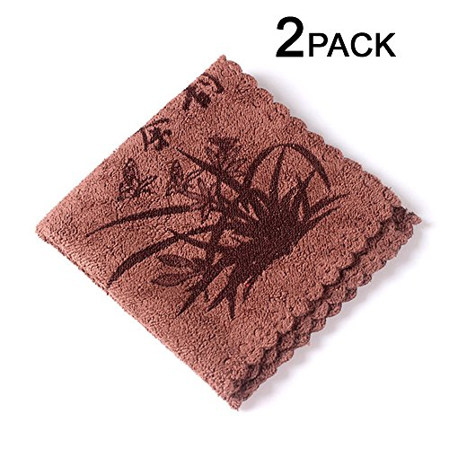 DICTEA Chinese Kung Fu Tea Microfibre Towel Set of 2 - Superior Absorption and Soft 11.8