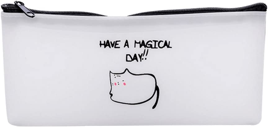 Kentop dibujos animados estuche Have a Magical Day – Bolsas de papel estuche escolar estuche cosmética Bolsa, pvc, Katzen-1, 18.5x8.7cm: Amazon.es: Hogar