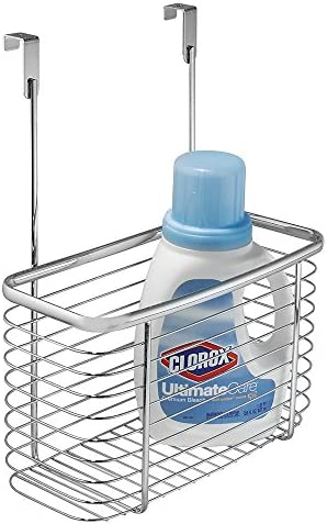"""iDesign Axis Steel Over-the-Cabinet Storage Basket - 6.2"""" x 11"""" x 13.8"""", Silver"""
