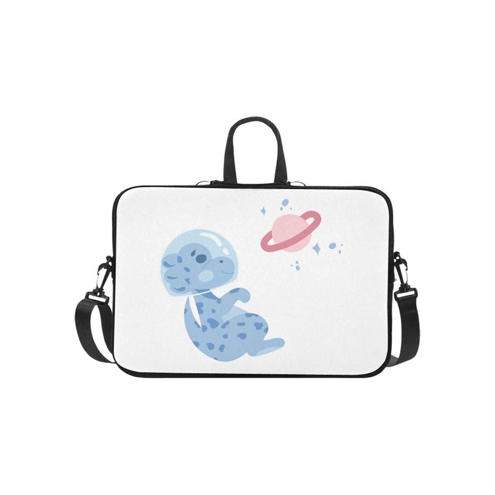 06502ed1851a Amazon.com: A Cute Astronaut Dinosaur Pattern Briefcase Laptop Bag ...