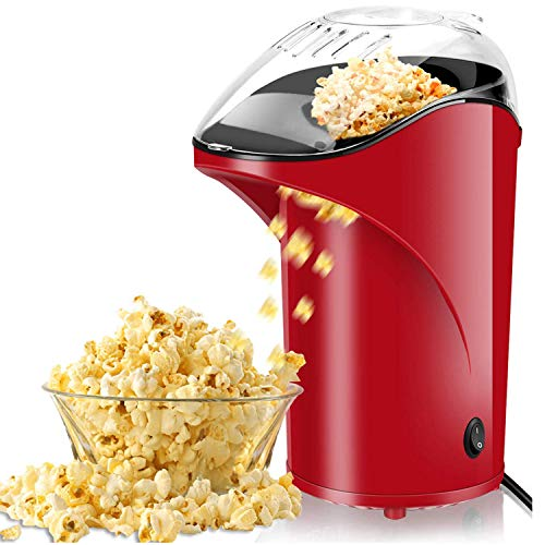 Cheapest Prices! Popcorn Machine, BPA Free Popcorn Maker Healthy Machine No Oil Needed 2.8oz Large C...