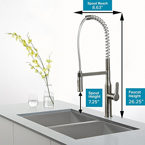 Kraus KPF-1650SS Nola Kitchen Faucet, Stainless Steel