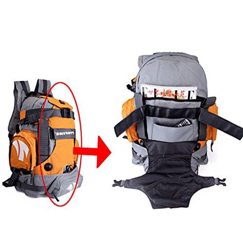 patinaje del monopatín del bolso de hombro de hombres y mujeres al aire libre de los viajes de ocio mochila bolsa de deporte de patinaje naranja