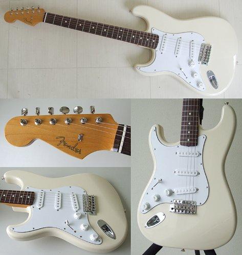 Fender Japan ST62/LH VWH Vintage White Stratocaster '62 style Japanese Electric Guitar Lefty Left handed (Japan Import)