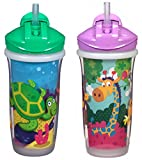 Baby : Playtex Sipsters Stage 3 Spill-Proof, Leak-Proof, Break-Proof Insulated Straw Sippy Cups for Boys and Girls - 9 Ounce - 2 Count