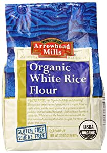 Amazon.com : Arrowhead Mills Organic Rice Flour, White, 32