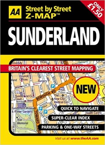 AA Street by Street Z-Map Sunderland: Amazon.co.uk: 9780749538422: Books