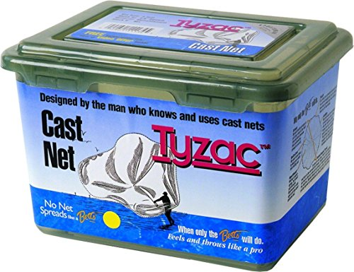 - Betts M5S-I Tyzac 5-Foot Mono Cast Net, 1/2-Inch Mesh, Clear Finish