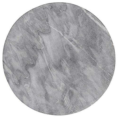 Cheap Bloomingville A45200059 Grey Round Marble Cutting Board/Tray