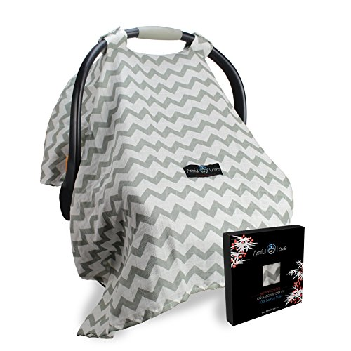 Amazon Best Baby Car Seat Covers For Boys And Girls With Innovative Wind Proof Design INCLUDES BONUS E BOOK On Breastfeeding Tips Can Be Used As A