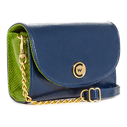 Chain Stadium gold Women Clutch Blue Handbag Compliant Crossbody Green HzqC8wqP