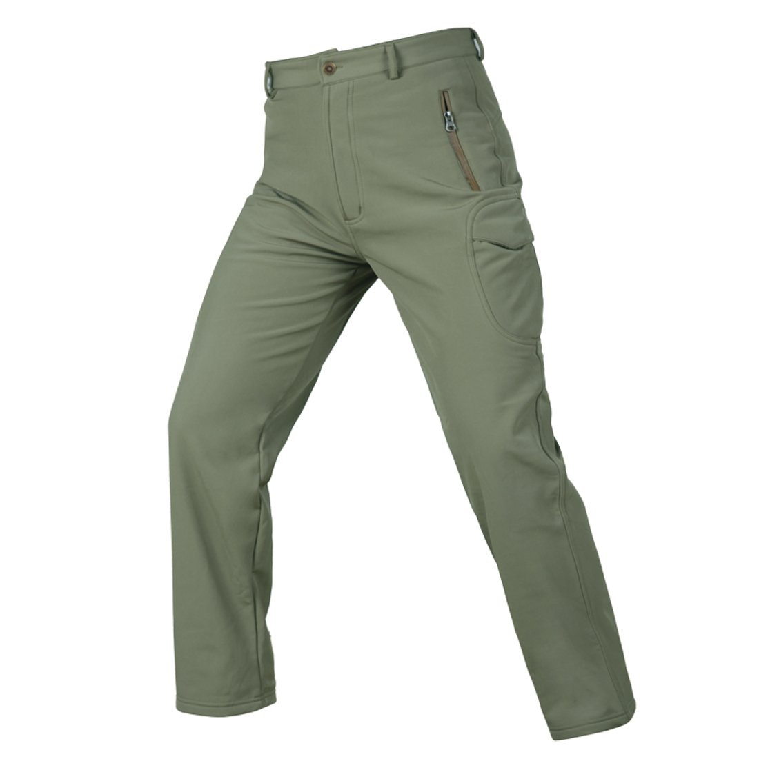 MAGCOMSEN Mens Waterproof Outdoor Fleece Hiking Climbing Trousers Camouflage Soft Shell Mens Tactical Pants