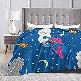Ultra Soft Flannel Fleece Throw Blanket Grover All