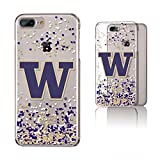 Keyscaper NCAA Washington Huskies KCLR7X-0WAS-FETTI1 Apple iPhone Clear Case, iPhone 8 Plus/7 Plus/6 Plus, Clear