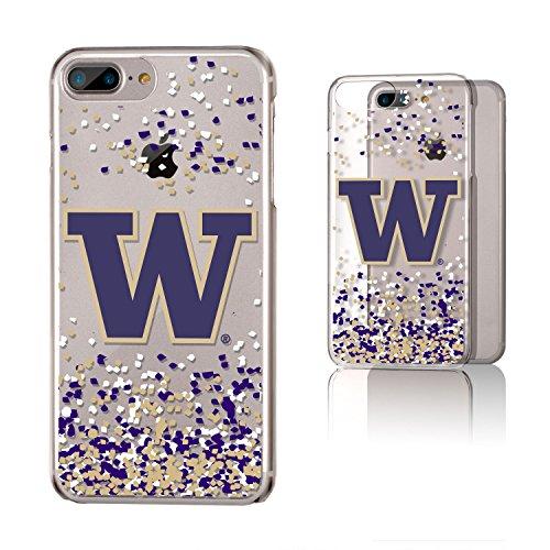 Keyscaper NCAA Washington Huskies KCLR7X-0WAS-FETTI1 Apple iPhone Clear Case, iPhone 8 Plus/7 Plus/6 Plus, Clear by Keyscaper