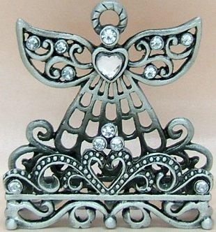 Desk accessories angel pewter decorative standing business card desk accessories angel pewter decorative standing business card holder colourmoves