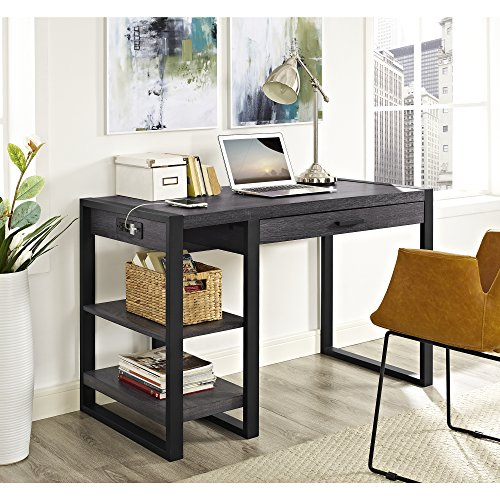WE Furniture 48″ Industrial Wood Storage Computer
