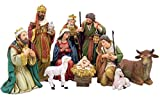 Michael Adams Detailed Resin Christmas Nativity Figurine Statue Set, 5 Inch (9-Piece)