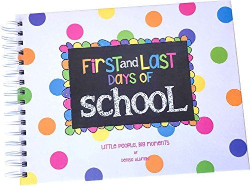 Preschool to College easy-to-do, turn-key First & Last Day of School Memory Book (Pastel - Girl)