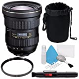 Tokina AT-X 14-20mm f/2 PRO DX Lens for Canon EF (International Model) No Warranty + Deluxe Cleaning Kit + 82mm UV Filter + Deluxe Lens Pouch Bundle 7