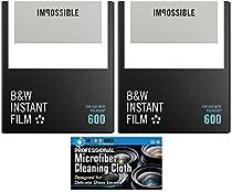 Impossible PRD4516 Instant Black & White Film for Polaroid 600 Cameras - 2 Pack