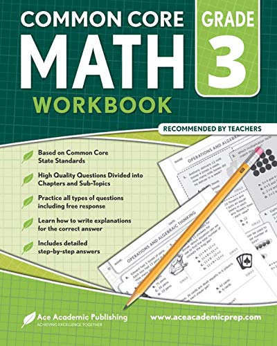 3rd Grade Math Workbook: CommonCore Math Workbook (Nys Common Core Ela Curriculum Grade 8)