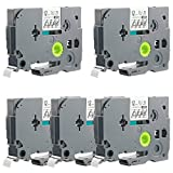 TZe-131 Label Tape, LaBold 5 Pack Black on Clear Standard Laminated Label Tape 0.47'' X 26.2'(12mm x 8m) Compatible for Brother P-touch TZ TZe 131 TZ-131 --BUY FROM FACTORY STORE: Label Tape World