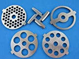 5 meat grinder - 1 X (5) Pc SET New Grinding plate discs and knife for Kitchenaid Mixer FGA Food Chopper and Meat Grinding