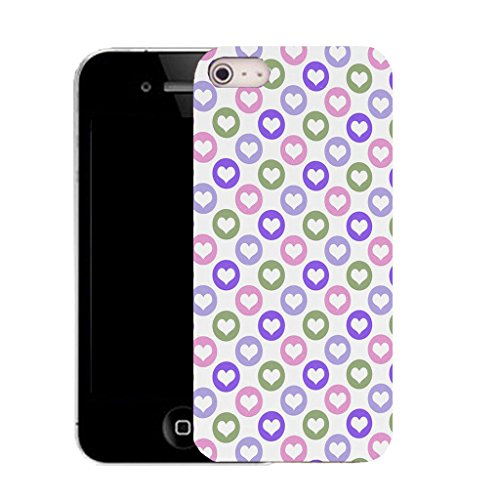 Mobile Case Mate iPhone 5c clip on Silicone Coque couverture case cover Pare-chocs + STYLET - ringed heart pattern (SILICON)