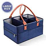 DaMohony Baby Diaper Caddy Organizer, Large Portable Nappy Storage Basket Personality Detachable Divider